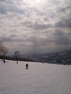 スキーしてます